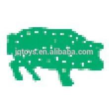 Chinês zodíaco animal placa threading bloco com oito cordas brinquedo