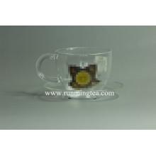 Logotipo privado de encargo en el té de cristal
