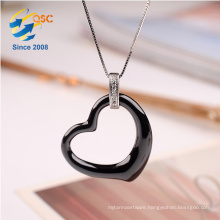 Beautiful Ladies Jewelry Water Drop Shaped Single Stone Pendant Necklace