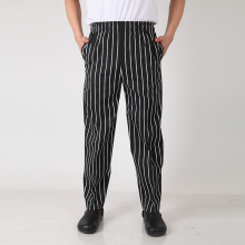 Yarn-dyed stripe or checker chef pants