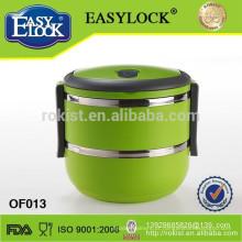 recipiente de armazenamento quente do alimento de aço inoxidável