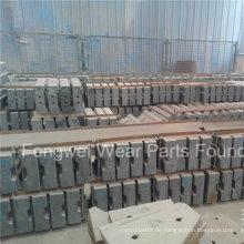 High Mangan High Crome Prallbrecher Ersatzteile Schlagleiste