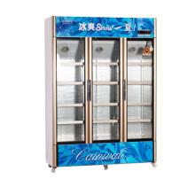 991L vertikal unterhalb der Einheit öffnen Multi-Door Display Kühlschrank