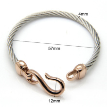 Two-Color Titanium Steel Bracelet Hooks Fashion Jewelry Infinity Love Charm Bracelets & Bangles