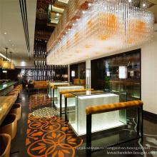 Горячие продажи золотой диетический бар отель хрустальные люстры
