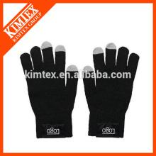 Forme el invierno acrílico hizo punto los guantes texting de encargo