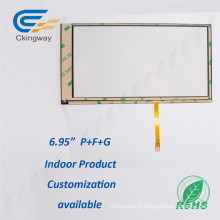 "6.95"" 4 Wire Resistive Touch Screen Glass"