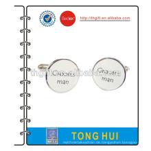 Manschettenknopf mit Seidendruck Logo Design