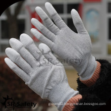 SRSAFETY 13g nylon & carbon finger dipped PU antistatic electronic work glove