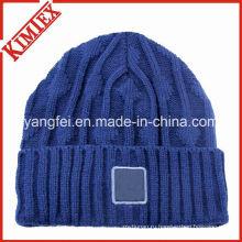 100% акриловый высокого качества пользовательских трикотажные Hat Beanies