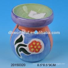 Home decoración quemador de aceite de cerámica colorida