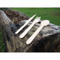 140mm Disposable flatware set wooden spoon tableware