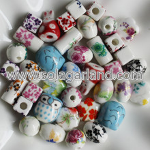 10-26MM Mix Style Hand Panted Spacer Ceramic Beads Charms