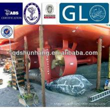 Certificado internacional flutuante airbag marítima de borracha do mar
