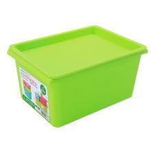 Rectángulo caja de almacenamiento de plástico colorido con la tapa (SLSN002)