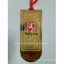 Professional Manufacturer Cloisonne Bookmark in Gold Plating (bookmark-010)