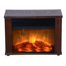 Wood-Electric Mini Fireplace