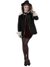 Winter Women Fashion Turn-Down Collar Long Sleeve Wool Coat