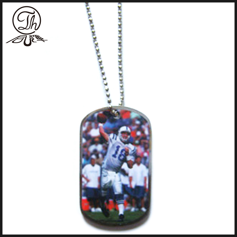 Epoxy dome dog tag id necklace Jewelry