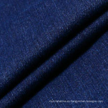 Blue Stretch Algodón Spandex Denim Tela para las mujeres Jeans