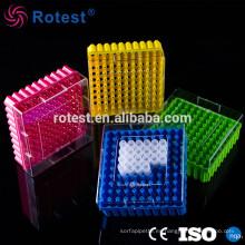 Caja de tubos crioviales de 100 pocillos y 2 pocillos.