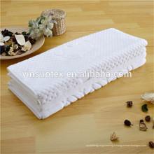 Fabricants 100% coton matériau serviette visage d'hôtel