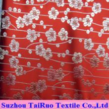 Polyester satin de soie avec brodé pour rideau et drap