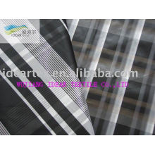 5DX50D Polyester Yarn-dyed checked Fabric For Coat