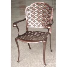 Set de sillas de jardín de metal muebles al aire libre fundido aluminio Patio