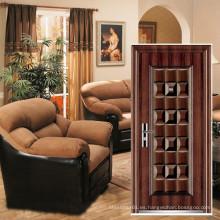 puerta de seguridad barato acero de acabado de superficies