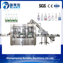 Planta embotelladora automática de la botella de cristal / línea de relleno