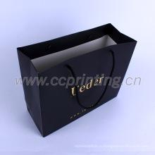 Роскошные вторичной переработки мода подарок бумажные мешки с вашим собственным логосом