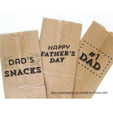 Papier Kraft Marron De Qualité, sac Airsickness, sac Snack Food
