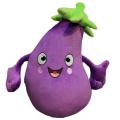 Cara de bordado de frutas y verduras de juguete de felpa personalizado