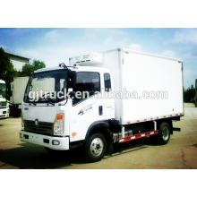 4X2 drive 3-6T capacidad de carga Sinotruk HOW Refrigerator Camión / congelador camión / enfriador camión / refrigerado camión / cooling truck