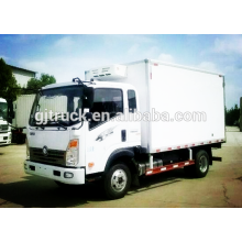 4X2 drive 3-6T loading capacity Sinotruk HOW Refrigerator Truck/ freezer truck /chiller truck/ refrigerated truck/ cooling truck