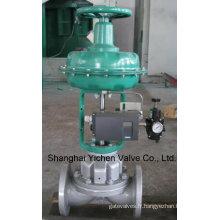 Vanne de régulation pneumatique diaphragme bordées de fluor