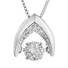 Bijoux Fashion Jewelry 925 Silver Dancing Diamond Pendants