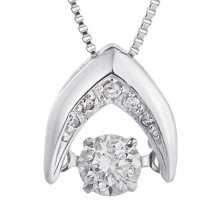 Fashion Jewelry 925 Silver Dancing Diamond Pendants