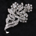 Wholesale New Arrival Alloy Brooch Girl Gift Pretty Flower bridal Jewelry Rhinestone Brooches
