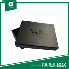 Custom Black Matt Spot UV Gift Cardboard Box for Suits
