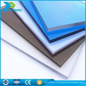 Les matériaux de couleurs de toiture en polycarbonate de haute qualité à chaud vendent des prix peu coûteux