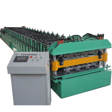 Lembaran Logam Double Layer Roll Forming Machine