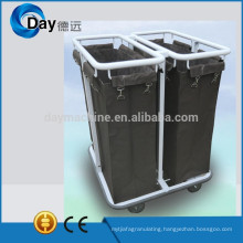 HM-50 powder coating steel frame laundry sorter with Oxford bag, 2 laundry sorter cart, stock laundry sorting cart