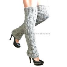 Hand Knit Leg Calças Warmer, Hand Knit Boot Cuffs