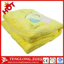 Теплый и мягкий прекрасный плюшевый покрывало для подушки 2 в 1