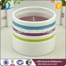Round ceramic candleholder for gifts