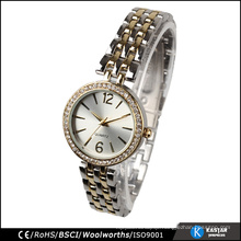quality lady watch sunray dial,stainless steel back watch price