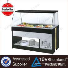 2017 Kommerziellen Küche Schiebetür Display Salat Bar Kühlschrank