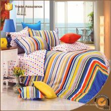 Роскошные 3d постельные принадлежности устанавливают постельные принадлежности печатания хлопка twill хлопка 100% дешевый размер постели кровати мати короля установленный